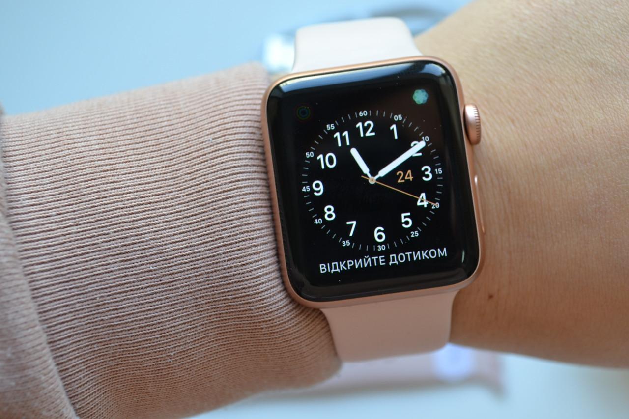 Смарт-часы Apple Watch Series 3 42mm A1859 Gold Aluminum (GPS ) Оригинал!
