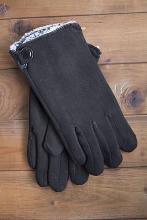 Мужские зимние стрейчевые перчатки + кролик 8194, фото 2