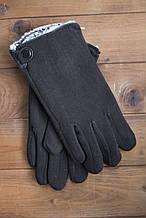 Мужские зимние стрейчевые перчатки + кролик 8194