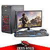 Недорогой Cовременный Игровой ПК ZEVS PC 8915 (Varian) Athlon X4 870K +RX 550 4GB + Монитор 18.5''