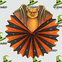 Декор подвесной Летучая мышь черно-оранж.