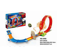 Трек 3090 Hot Wheels змея с метал.машинками кор.51*6,5*32