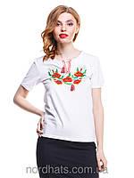 Качественная футболка вышиванка  женская