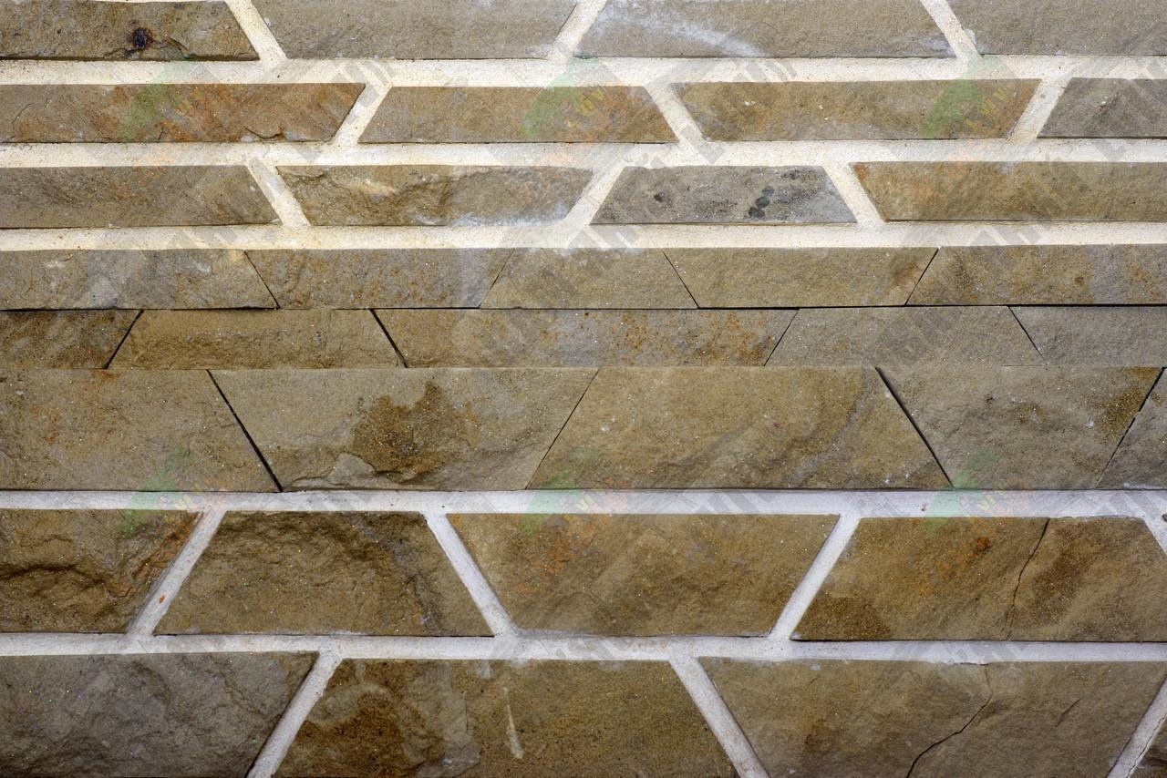 """Камень песчаник """"Ополье Желтое'' KLVIV 3 см. уп.0.5 м.кв, фото 1"""