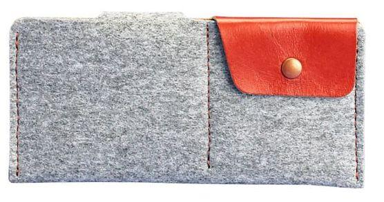 Компактное портмоне-купюрник BlankNote BN-PM-8-felt-k Серый