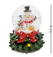 Новогодний музыкальный шар со снегом Снеговик XM-613-2