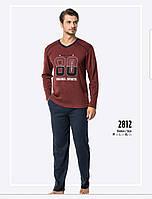 Пижама мужская темно синяя зимняя интерлок Falkom 2812