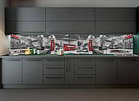 Наліпки кухонний фартух Zatarga Тауерський міст 600х2500 мм сірий, фото 1