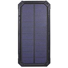 ➤Внешний аккумулятор Solar 20000 mAh Black Power Bank для зарядки смартфона и планшета с солнечной панелью