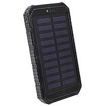 ✓Внешний аккумулятор Solar 20000 mAh Black с солнечной батареей Power Bank для смартфона и планшета, фото 3