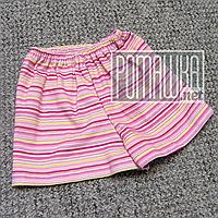 Детские шорты р. 98-104 1,5-3 года для девочки девочке ткань плотный трикотаж 100% хлопок 5005 Розовый