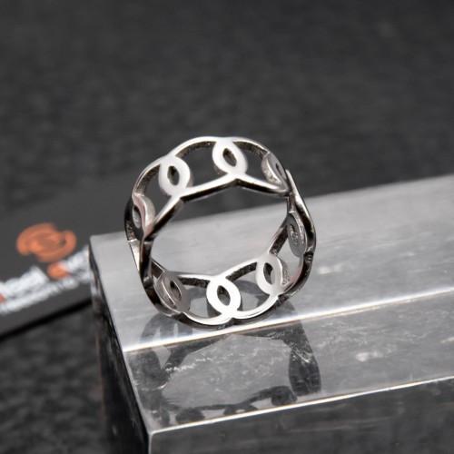 Кольцо из медицинской стали на фалангу женское 8 мм 172418