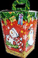 Упаковка новорічна Ліхтарик Червоний для солодощів 400-500 г, фото 1