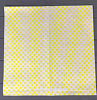 """Бумага оберточная """"Желтый горох"""" для бургеров 888Ф"""