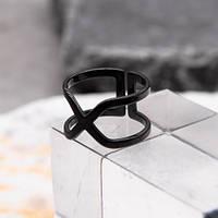 Фаланговое женское кольцо из черной стали 10 мм 172419