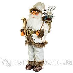 Дед Мороз под елку, Санта Клаус с лыжами 45 см