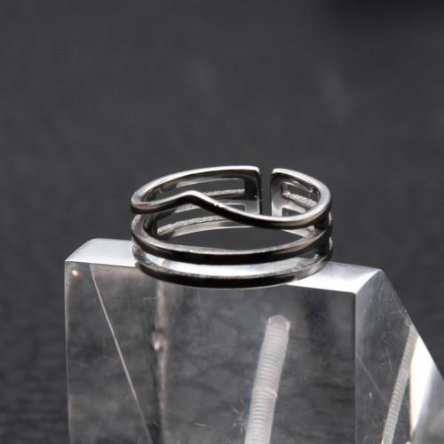 Кольцо из медицинской стали на фалангу женское 8 мм 172420