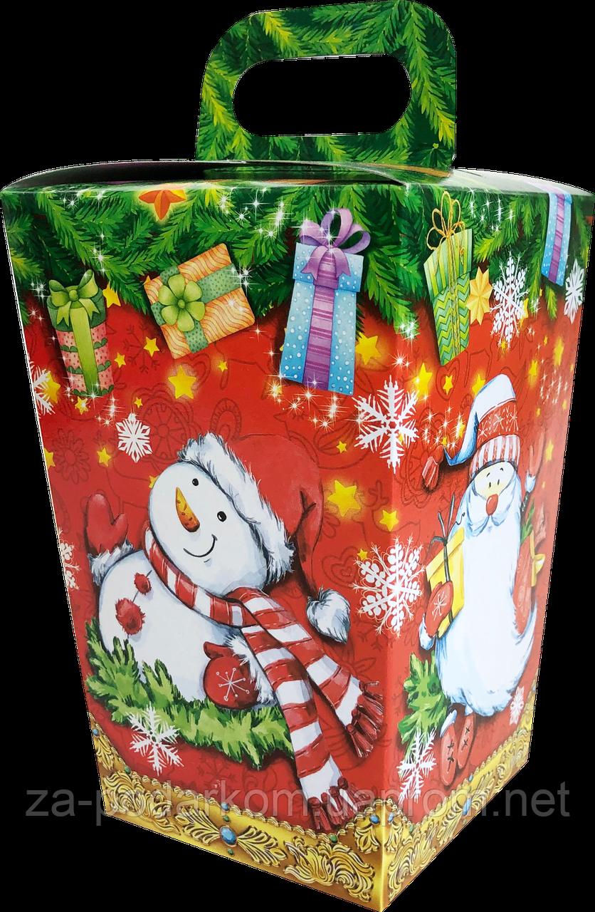 Упаковка новорічна Ліхтарик Червоний для солодощів 400-500 г