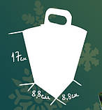 Упаковка новорічна Ліхтарик Червоний для солодощів 400-500 г, фото 2