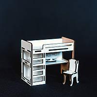 Кроватка-комната для маленькой куколки