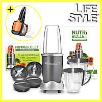 Блендер NutriBullet 600W + Овощерезка с контейнером Nicer Quick в Подарок