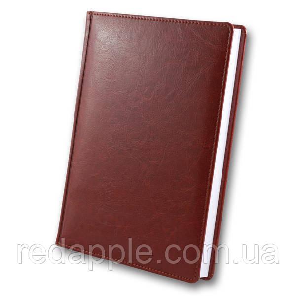 Ежедневник недат. А5 ЗВ-63 Sarif красно-коричневый (блок в клеточку)