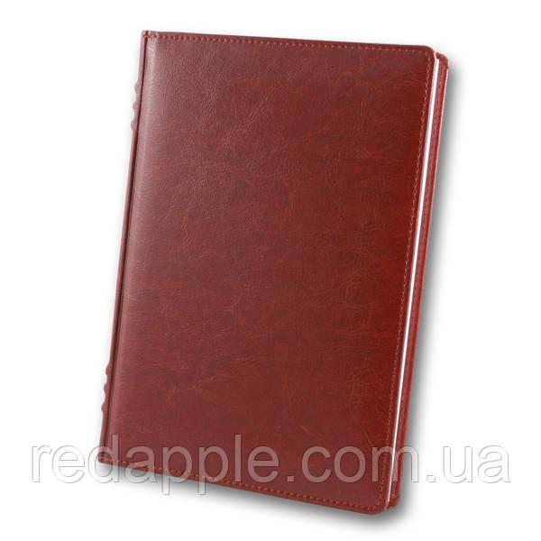 Ежедневник недат. А5 Французский переплёт ЗВ-433 Sarif красно-коричневый