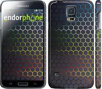 "Чехол на Samsung Galaxy S5 Duos SM G900FD Переливающиеся соты ""498c-62"""