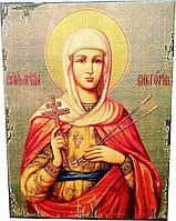 Икона Святая Мученица Виктория Кордубская (260*200*20 мм.)