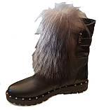 Ботинки женские зима на широком каблучке из натуральной кожи от производителя модель ЛУ436, фото 2
