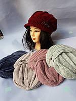 Бере жіночий зима на флісі з Козирком 299