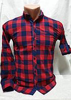 Рубашка в сине-красную клетку на мальчиков 140,146,152,158,164 роста