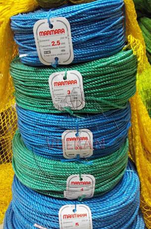 Полипропиленовый плетеный шнур Marmara 200 м (2.5, 3, 3.5, 4, 5, 6 мм), фото 2
