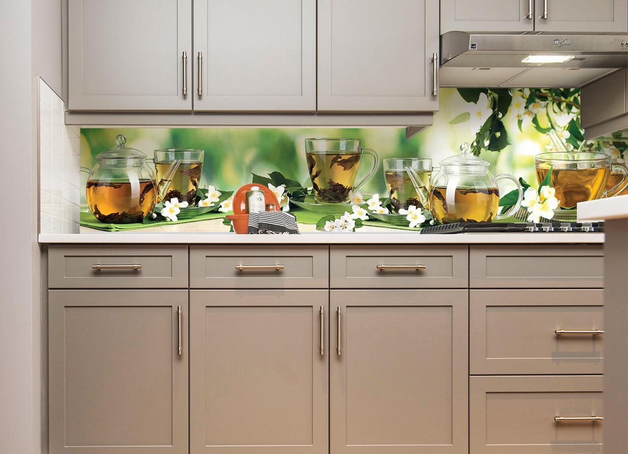 Наліпки кухонний фартух Zatarga Жасмин 600х2500 мм зелений