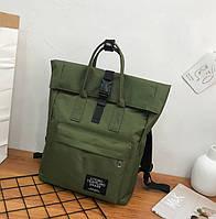 Стильный тканевый рюкзак женский цвета хаки, фото 1