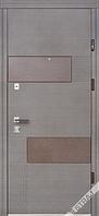 Входные двери STRAJ Standart Вулкан 950 левые венге серый горизон   (2007)