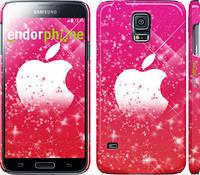 "Чехол на Samsung Galaxy S5 g900h pink apple ""1620c-24"""