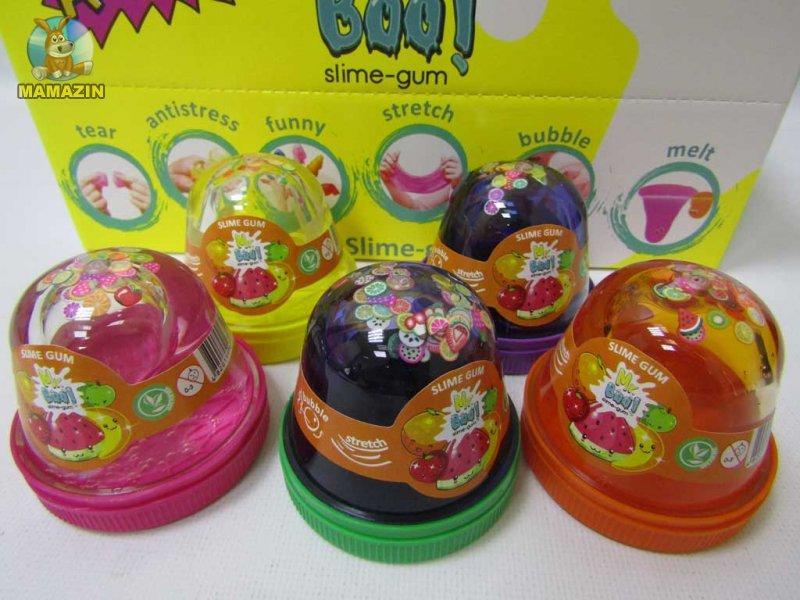 Слайм  А80025 Mr.Boo 80гр. (уп. 24шт), лизун, жвачка для рук, slime
