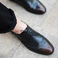 Туфли броги ІКОС 2103-2 черные