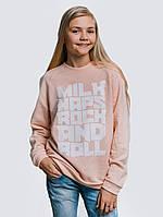 Стильная теплая кофта для девочки пудрово-розового цвета «Rock&Roll Kids»