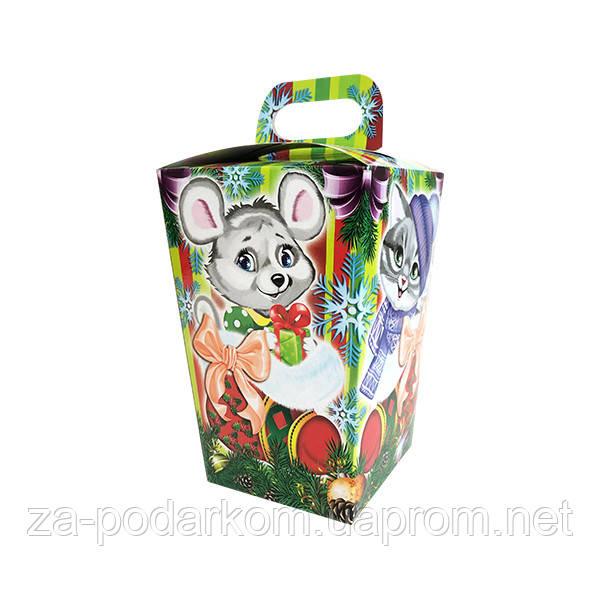 Упаковка новогодняя Ліхтарик для сладостей 400-500 г
