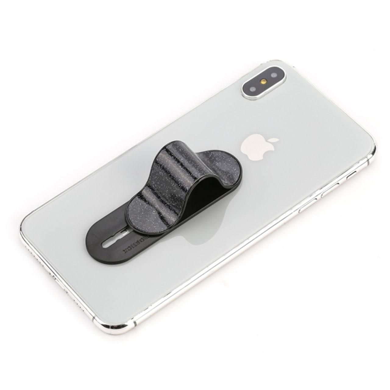 ◯Держатель для смартфона Momostick Pear (A-PE-02) Black гибкий сдвижной охват одним пальцем