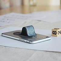 ☟Держатель для телефона Momostick Denim (A-DE-01) Blue подставка для портативных устройст на палец, фото 7