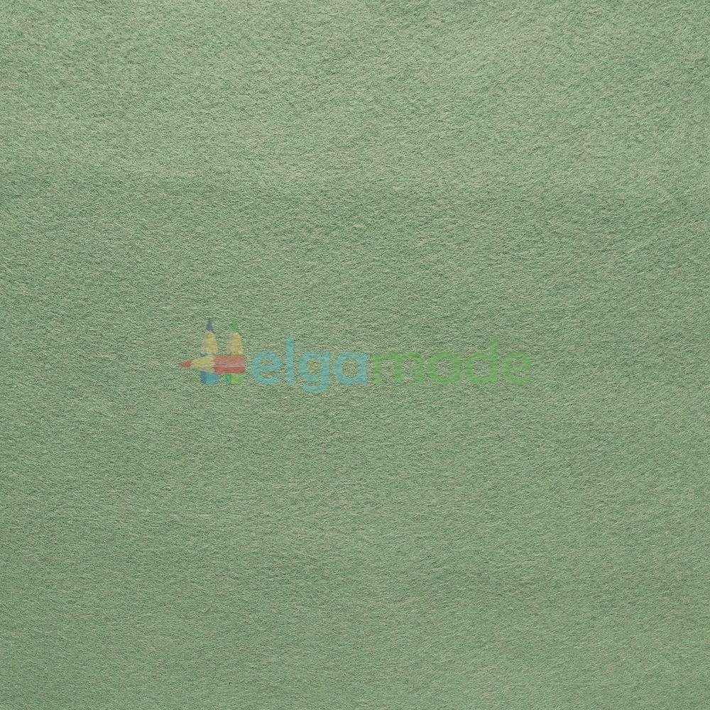 Фетр американский СЕРО-ЗЕЛЕНЫЙ, 23x31 см, 1.3 мм, полушерстяной мягкий