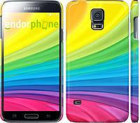 """Чехол на Samsung Galaxy S5 g900h Радужные полоски """"2386c-24"""""""