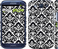"Чехол на Samsung Galaxy S3 Duos I9300i Черно-белый узор барокко ""1704c-50"""