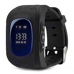 """☛Смарт-часы UWatch Q50 Black 0.96"""" детские GPS трекинг SIM встроенный динамик кнопка SOS датчик снятия с руки"""