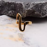 Кольцо из ювелирной стали женское медицинское золото 20 мм 172427
