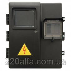 Бокс герметичный ДИМБОР под 1 фазный эл.счетчик и 3 авт.выкл IP 44