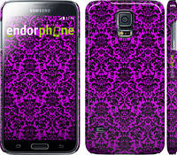 """Чехол на Samsung Galaxy S5 g900h фиолетовый узор барокко """"1615c-24"""""""